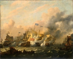 Engagement between British and Dutch Ships, after 1673