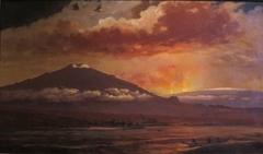 Eruption of Mauna Loa, November 5, 1889, as seen from Kawaihae