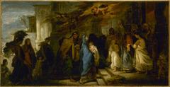 Esquisse pour l'église Notre-Dame-de-Lorette : la Présentation au temple