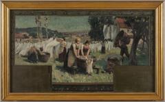 Esquisse pour la mairie d'Arcueil-Cachan : Les Blanchisseuses