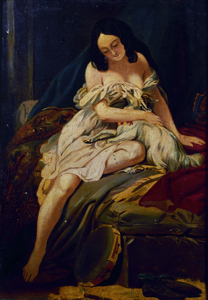 """Esquisse pour le tableau """"La Esmeralda et sa chèvre"""""""