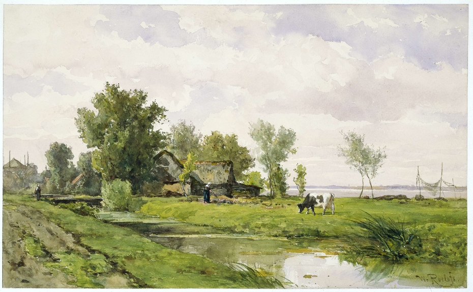 Farmhouse by a Ditch