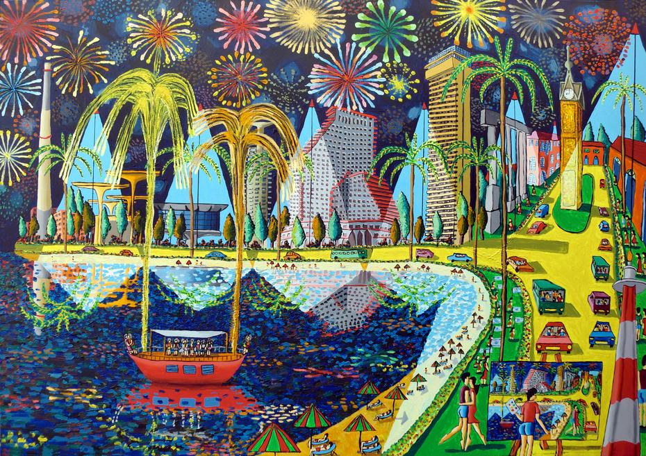 fireworks on tel aviv