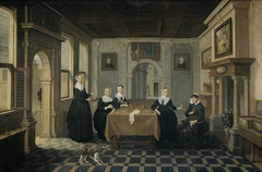 Five Ladies in an Interior