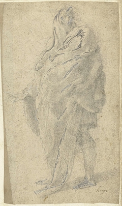 Gedrapeerde figuur, schrijnend naar links
