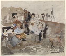 Gezelschap op een boot