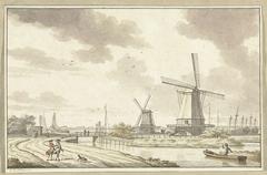 Gezicht aan de Zandhoek, buiten Haarlemmerpoort te Amsterdam