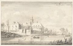 Gezicht op het kasteel Nijenrode