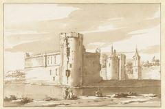 Gezicht op het kasteel St. Aldegonde te West-Souburg