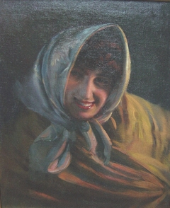 Girl with Shawl and Headscarf