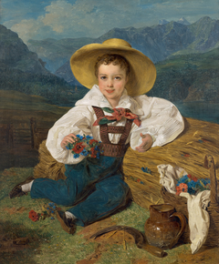Graf Demetrius Apraxin als Kind vor einer Berglandschaft
