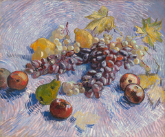 Grapes, Lemons, Pears, and Apples