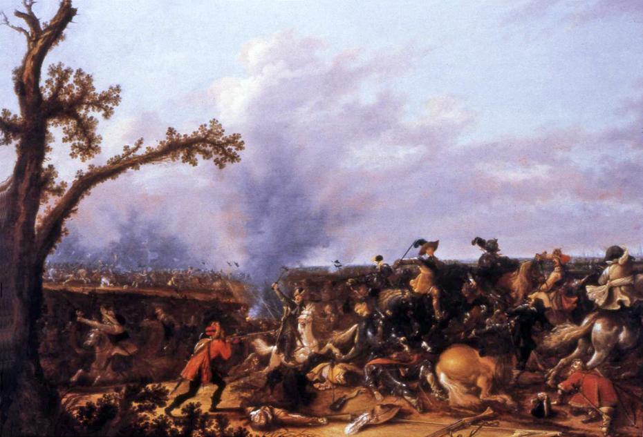 Gustavus Adolphus in the Battle of Lützen on November 6, 1632