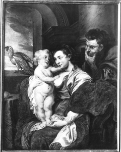 Holy family with the parrot
