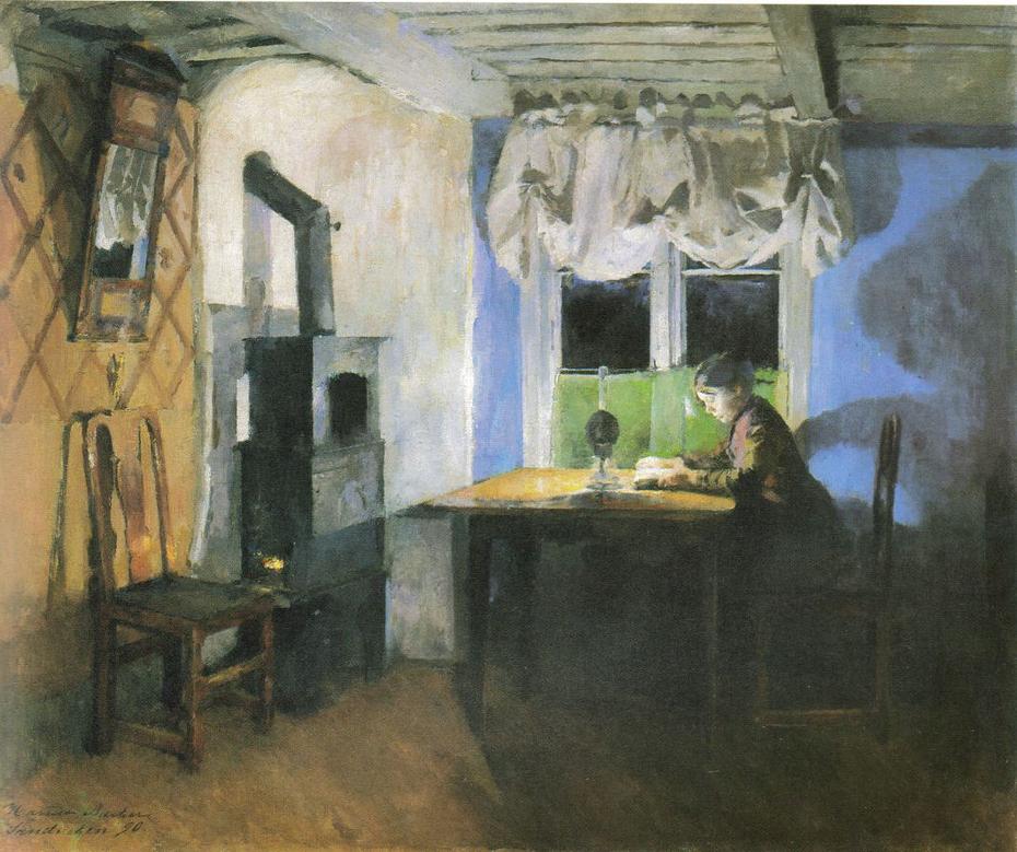 Homework by Lamp Light