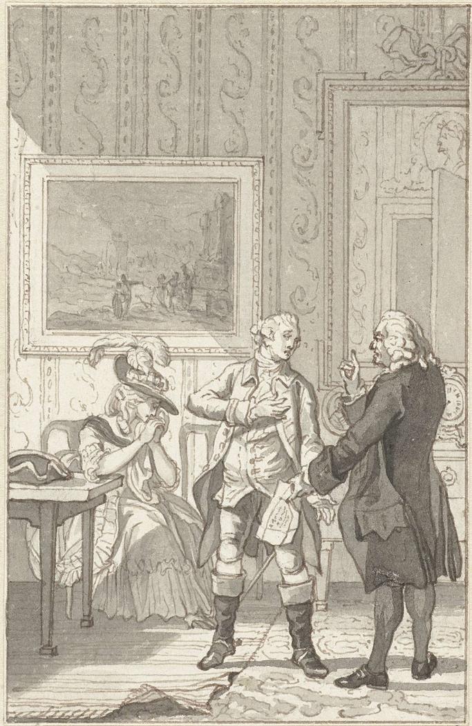 Illustratie voor het toneelstuk Het Tweegevegt van Jester