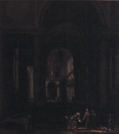 Interieur van een Renaissance kerk
