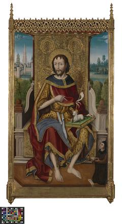 John the Baptist enthroned with the Founder Ivan de la Pena