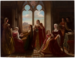 La reina Isabel la Católica presidiendo la educación de sus hijos