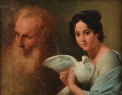 Lady with dove and elder