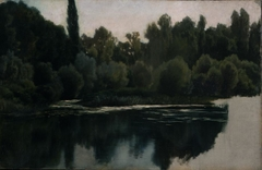 Landscape Study (Pond and Trees)