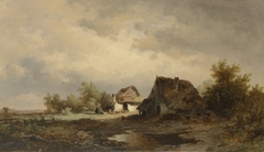 Landscape with Cottages on the Heath
