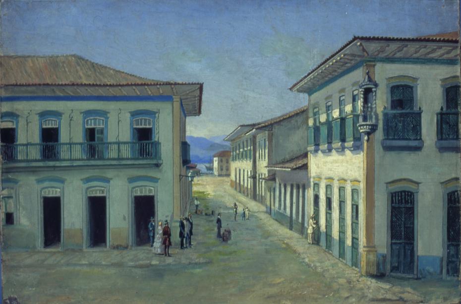 Largo do Rosário em Santos, 1850