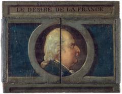 Le Désiré de la France. Portrait de Louis XVIII et portrait caché de Napoléon.
