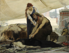 Les adieux d'Œdipe aux cadavres de sa femme et de ses fils