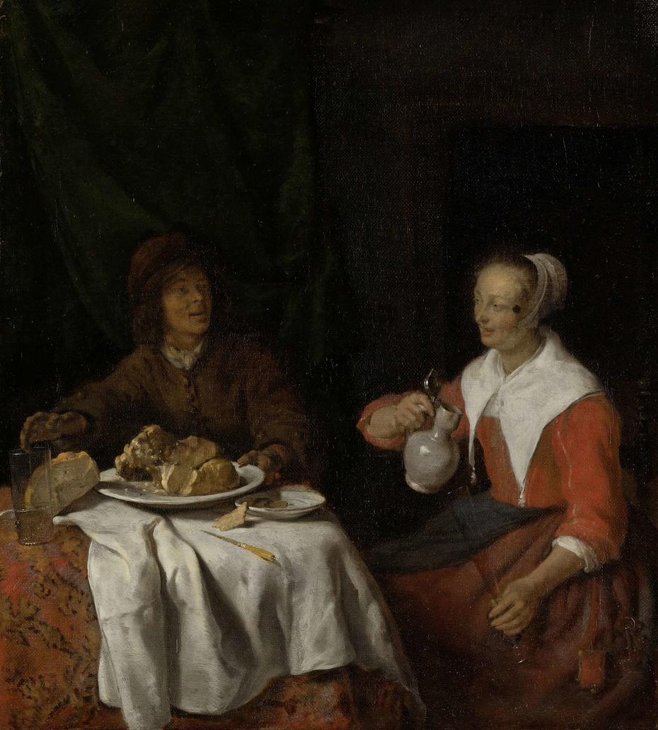 Man and Woman at a Meal