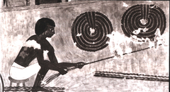 Man Making Leather Rope, Tomb of Rekhmire