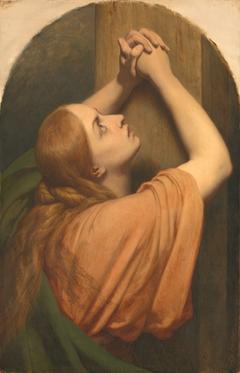 Maria Magdalena aan de voet van het kruis