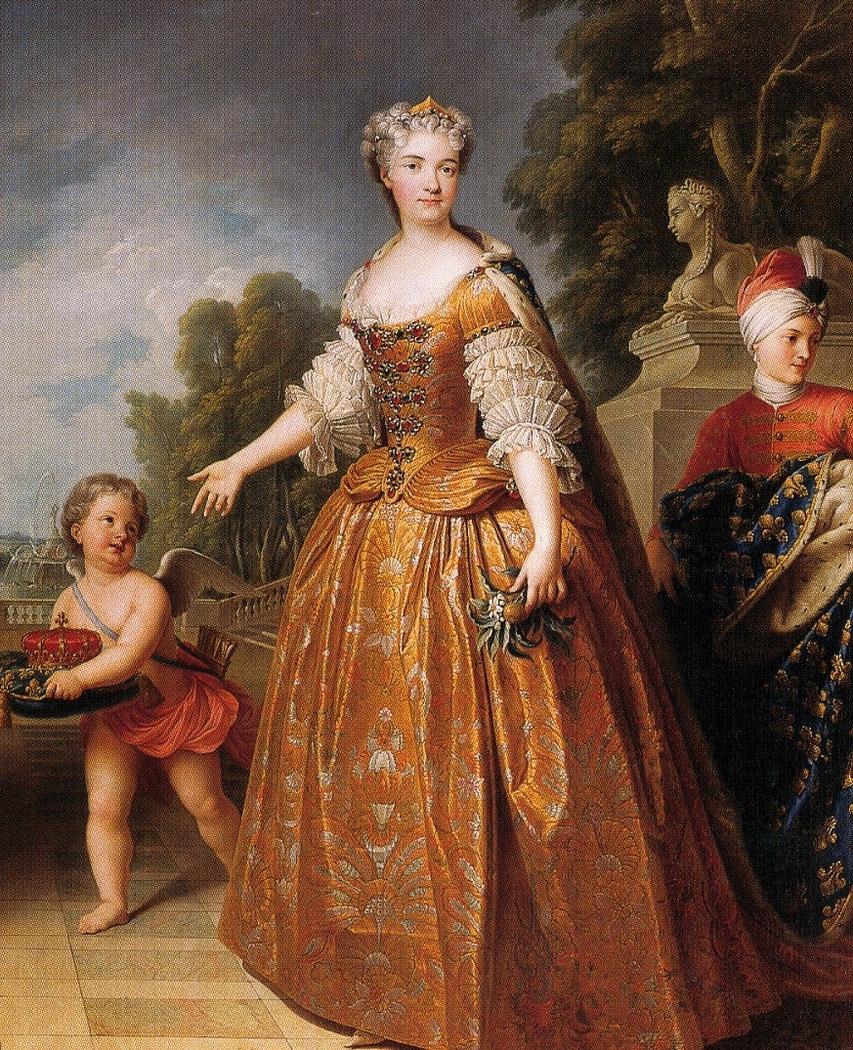 Marie Leszczyńska with page boy and putti