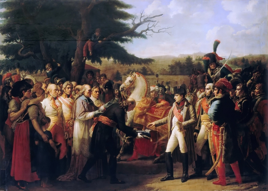 Napoleon Bonaparte receiving the keys of Vienna at the Schloss Schönbrunn, 13th November 1805