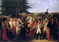 Napoleon Bonaparte receiving the keys of Vienna at the Schloss Schönbrunn, 13th November 1805