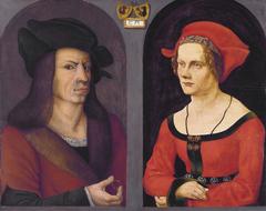 Nuptial Portrait of Coloman Helmschmid and Agnes Breu