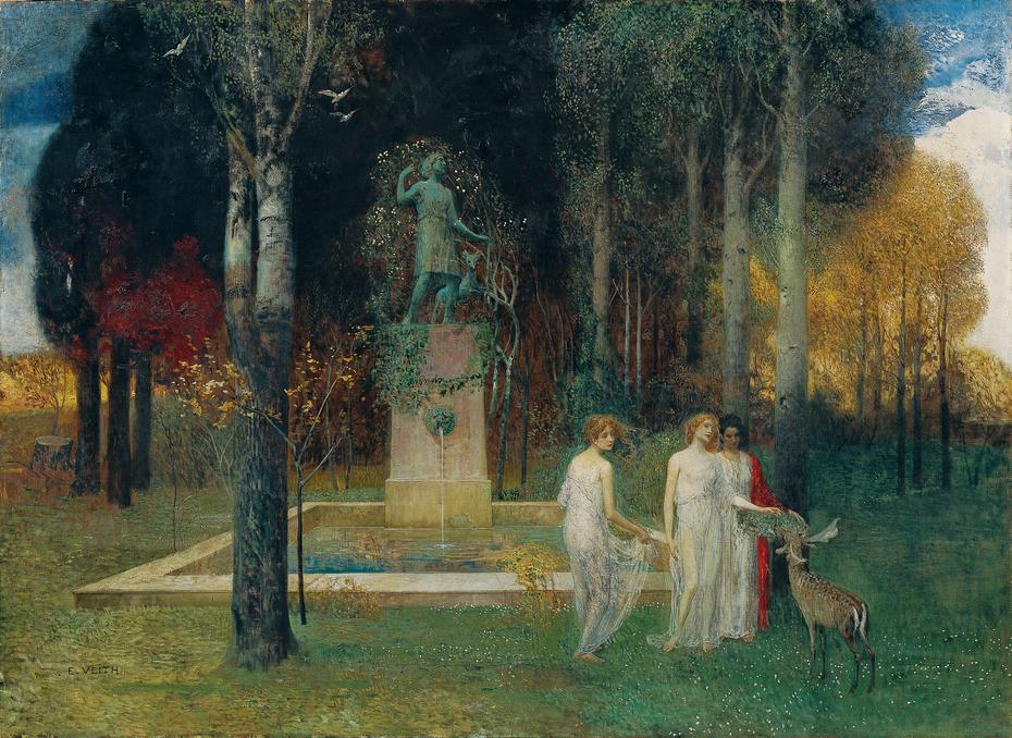 Nymphen am Brunnen