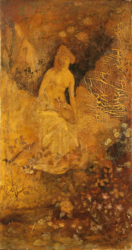Panel for a Screen: Woman with a Deer
