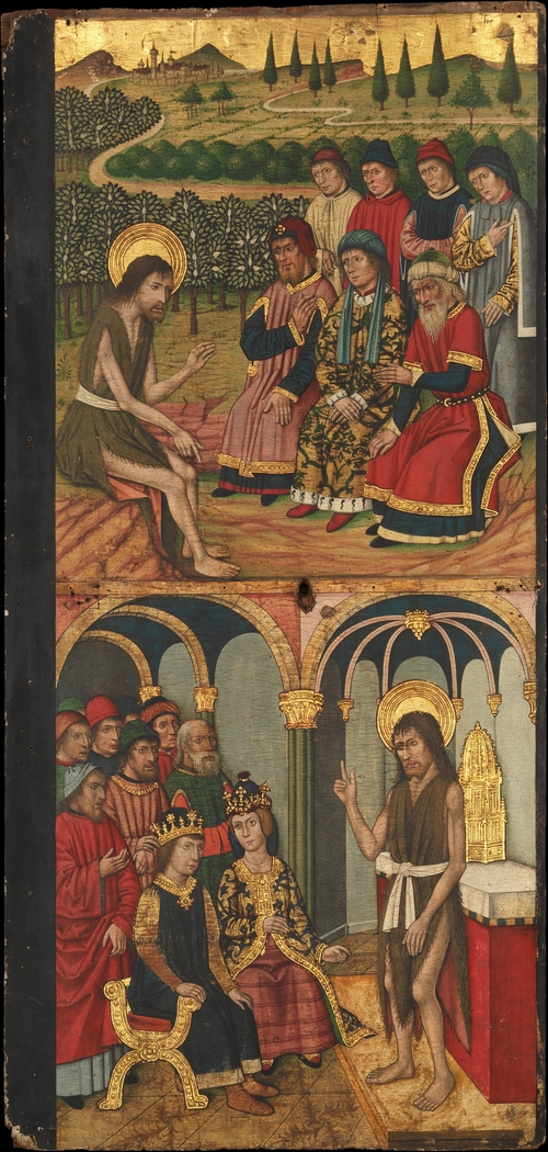 Panel of Saint John the Baptist with Scenes from His Life