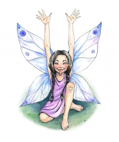 Playful fairy from The Enchanted Forest's Alphabet