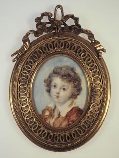 Portrait en buste d'un jeune garçon