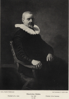 Portrait of a 69-year-old man in an armchair