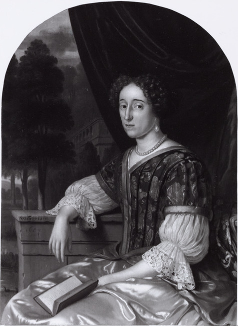 Portrait of a Lady in a Satin Gown