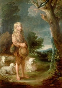 Portrait of a Shepherd Boy listening to a Mockingbird