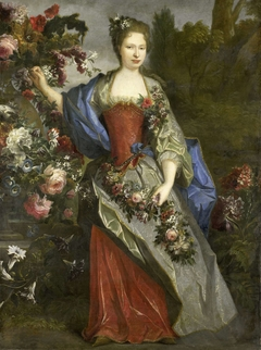 Portrait of a Woman, according to tradition Marie Louise Elisabeth d'Orléans, Duchess of Berry, as Flora