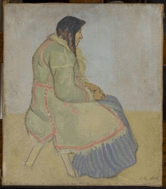 Portrait of an old village woman