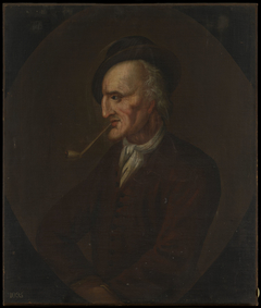 Portrait of an Unknown Man Smoking a Pipe