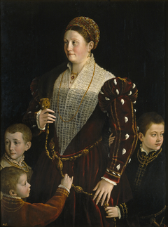 Portrait of Camilla Gonzaga and Her Three Sons