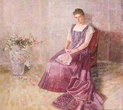 Portrait of Frau von Birkenreuth, 'Das Lila Staatskleid'