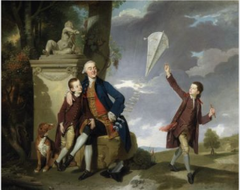 Portrait of George Fitzgerald with his Sons George and Charles